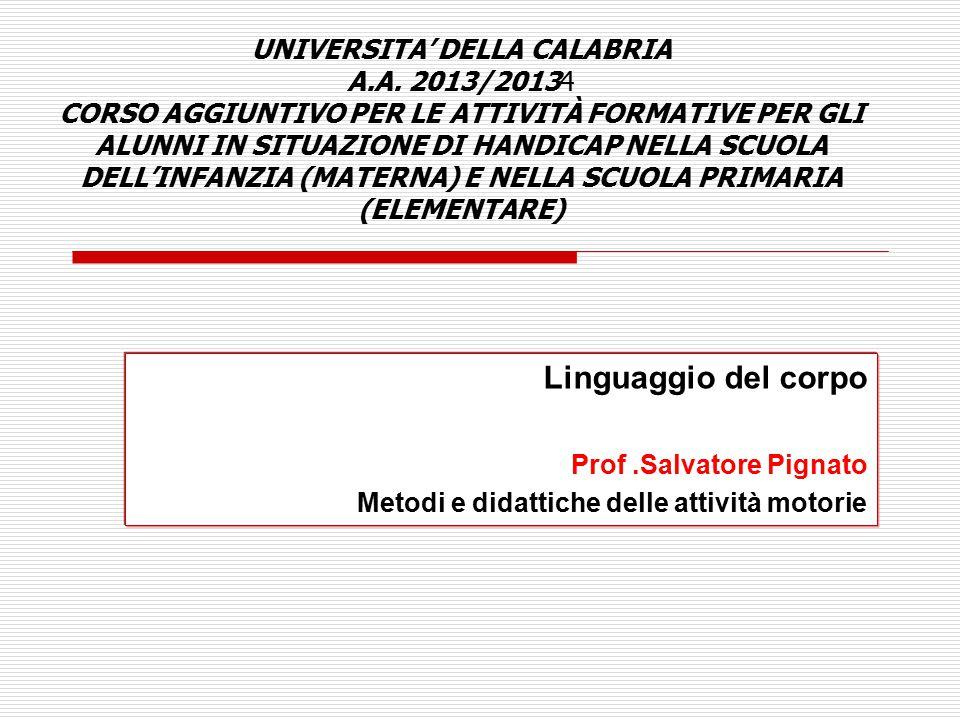 UNIVERSITA' DELLA CALABRIA A. A