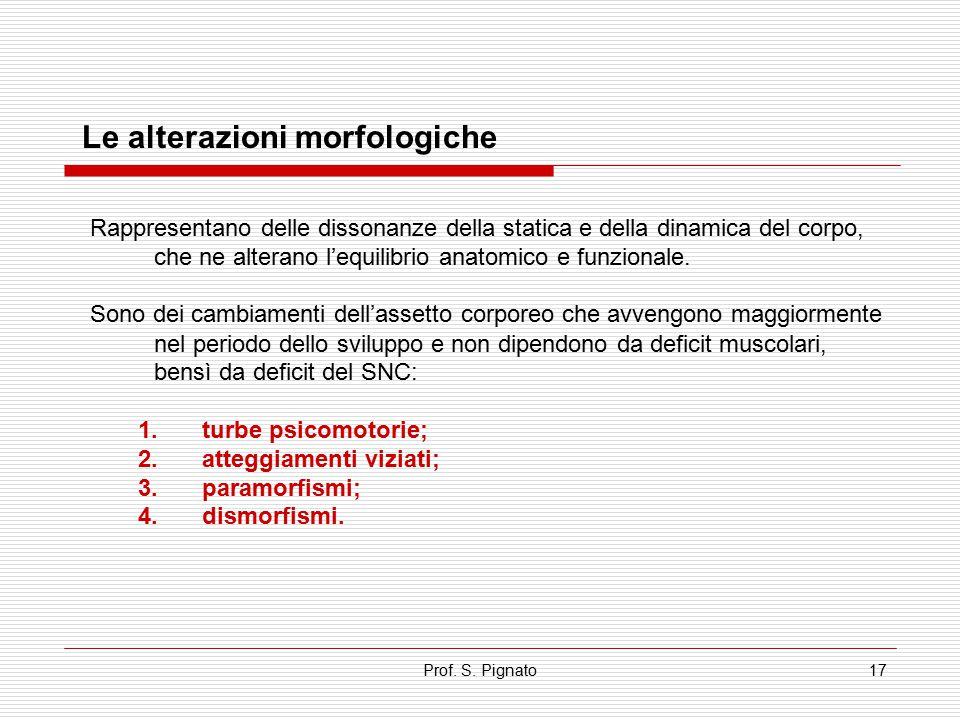 Le alterazioni morfologiche