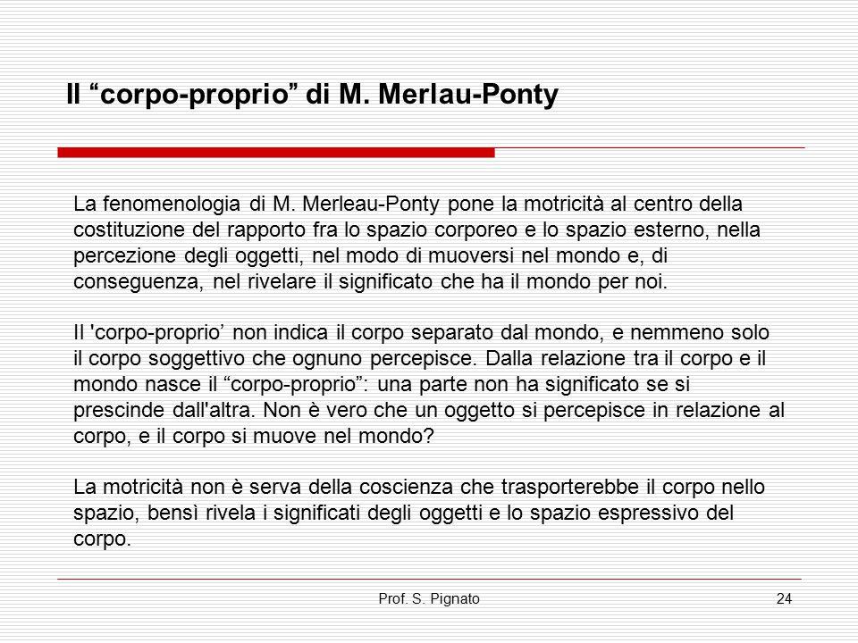 Il corpo-proprio di M. Merlau-Ponty