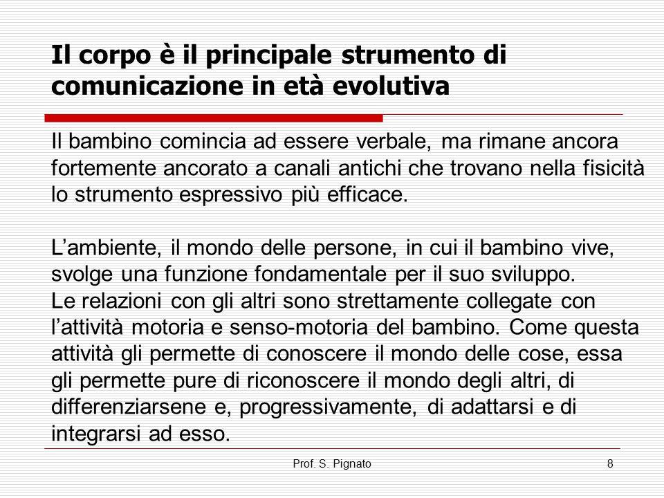 Il corpo è il principale strumento di comunicazione in età evolutiva