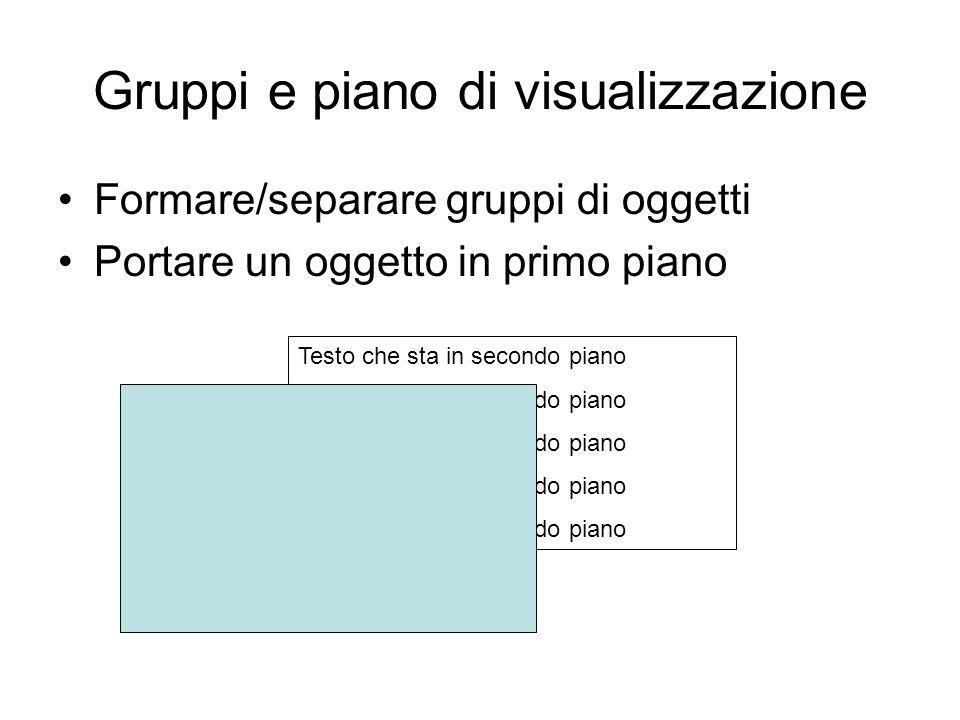 Gruppi e piano di visualizzazione