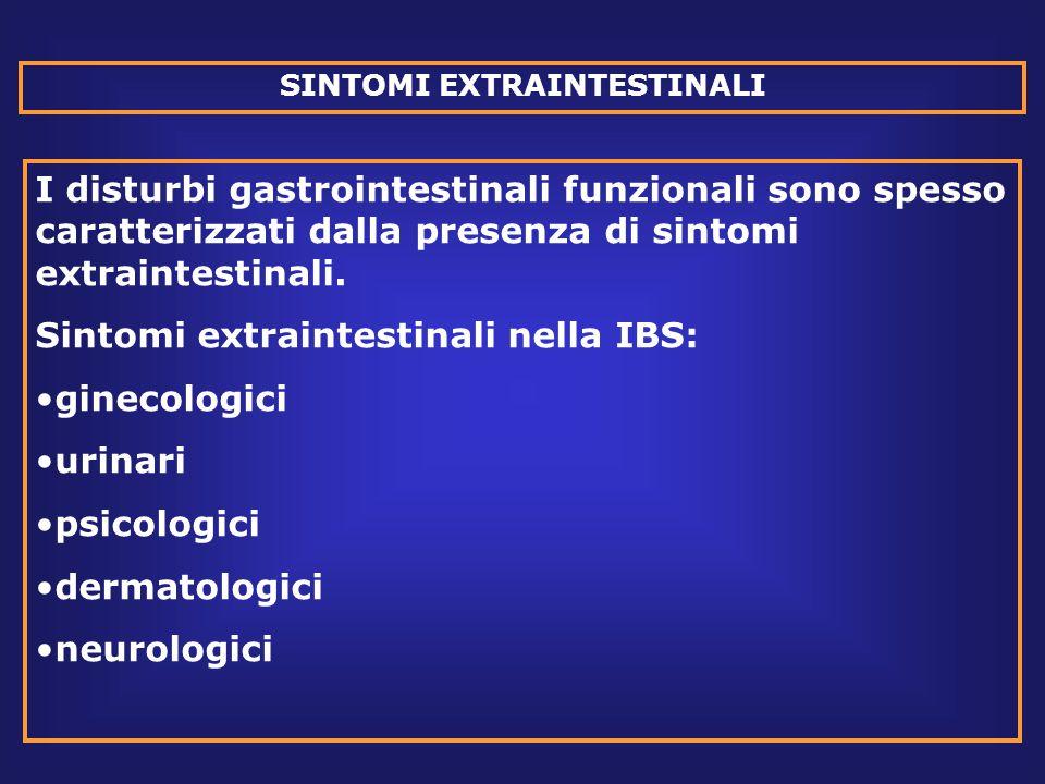 SINTOMI EXTRAINTESTINALI