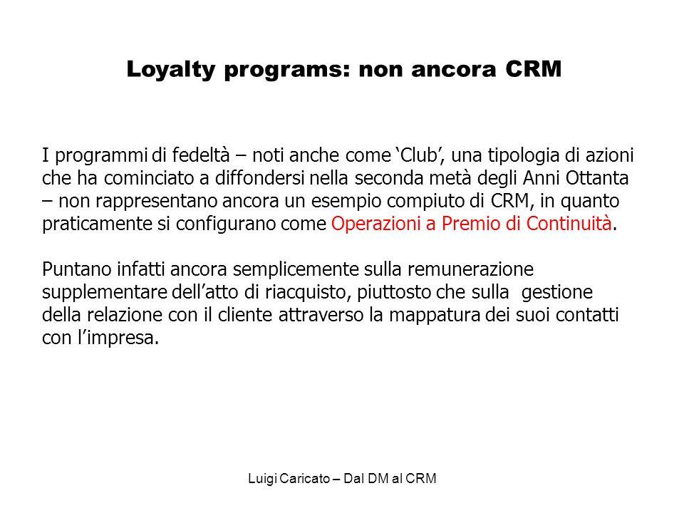 Loyalty programs: non ancora CRM