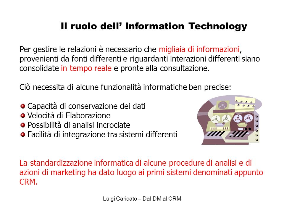 Il ruolo dell' Information Technology