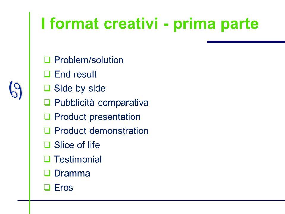 I format creativi - prima parte