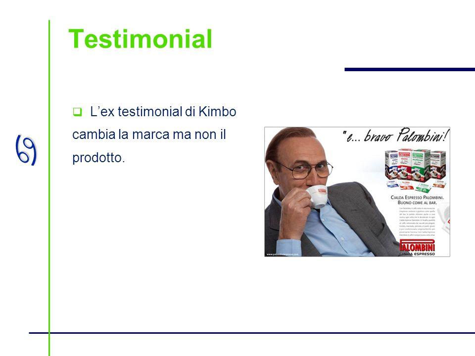 Testimonial L'ex testimonial di Kimbo cambia la marca ma non il