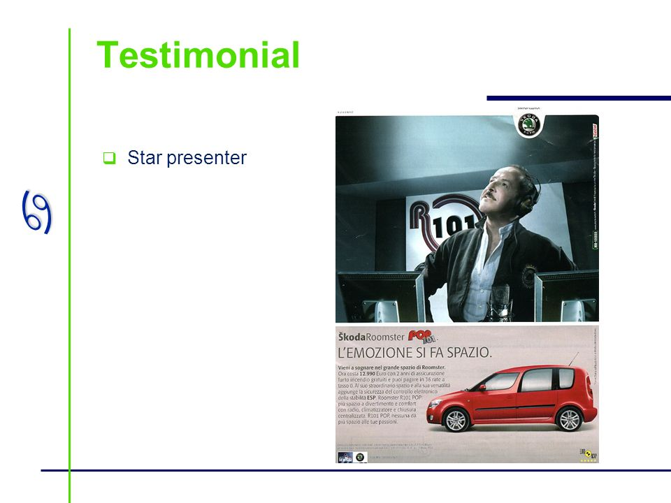 Testimonial Star presenter