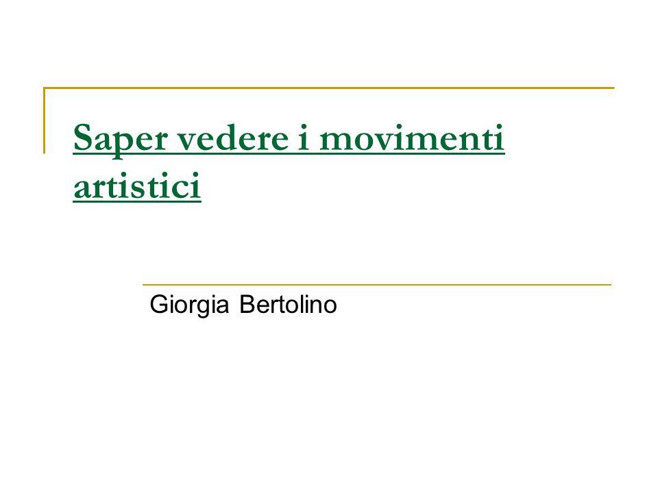 Saper vedere i movimenti artistici