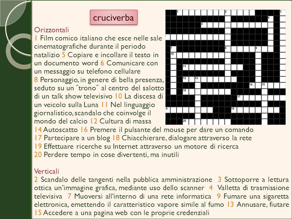 cruciverba Orizzontali 1 Film comico italiano che esce nelle sale