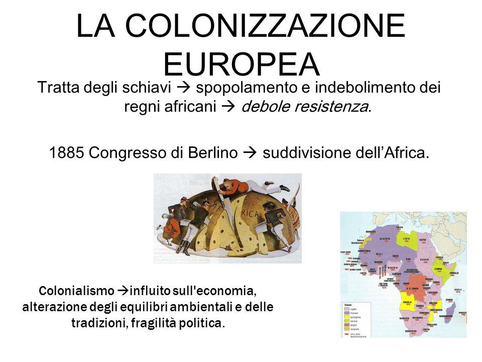 LA COLONIZZAZIONE EUROPEA