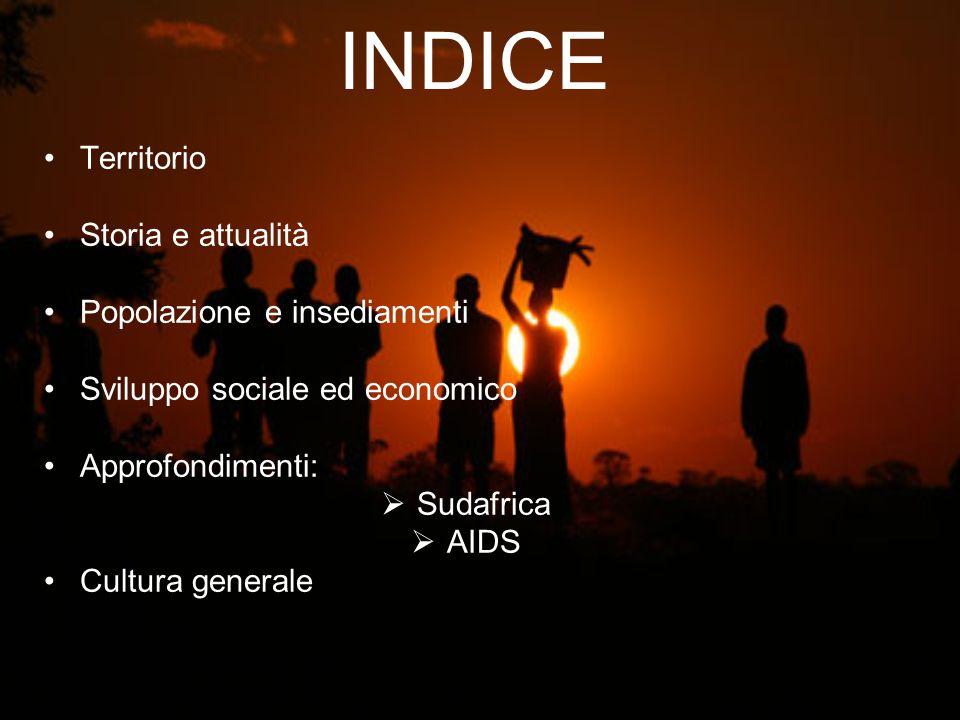 INDICE Territorio Storia e attualità Popolazione e insediamenti