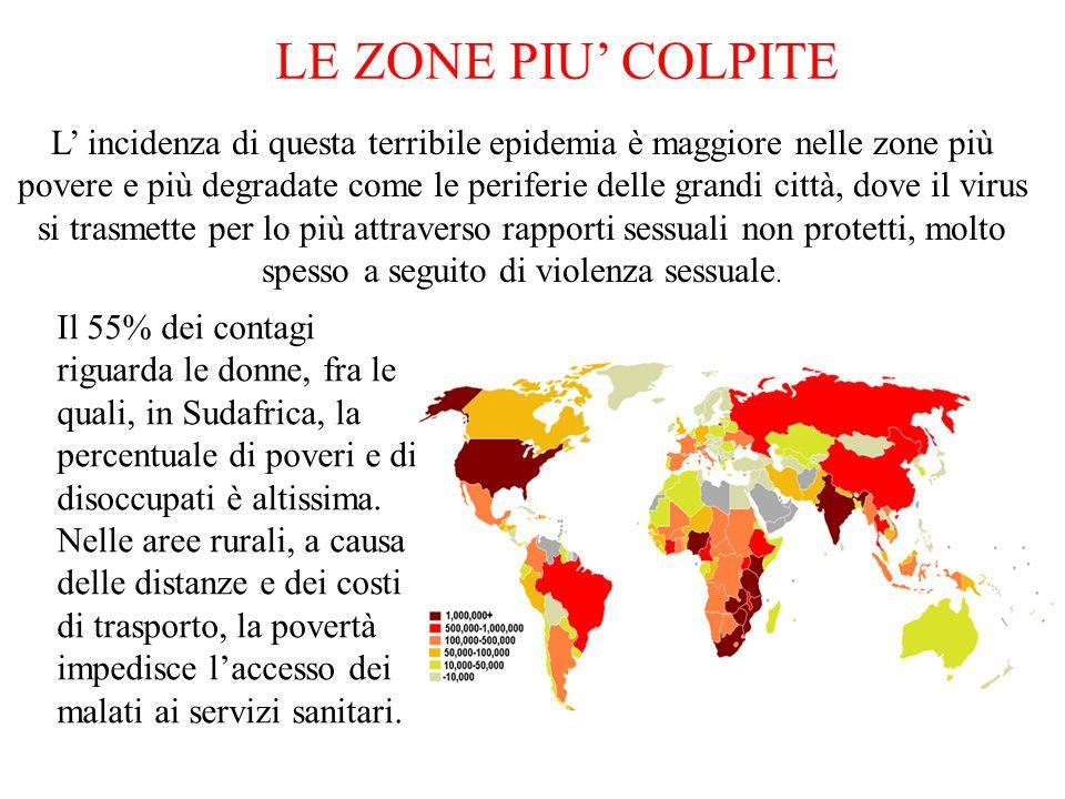 LE ZONE PIU' COLPITE