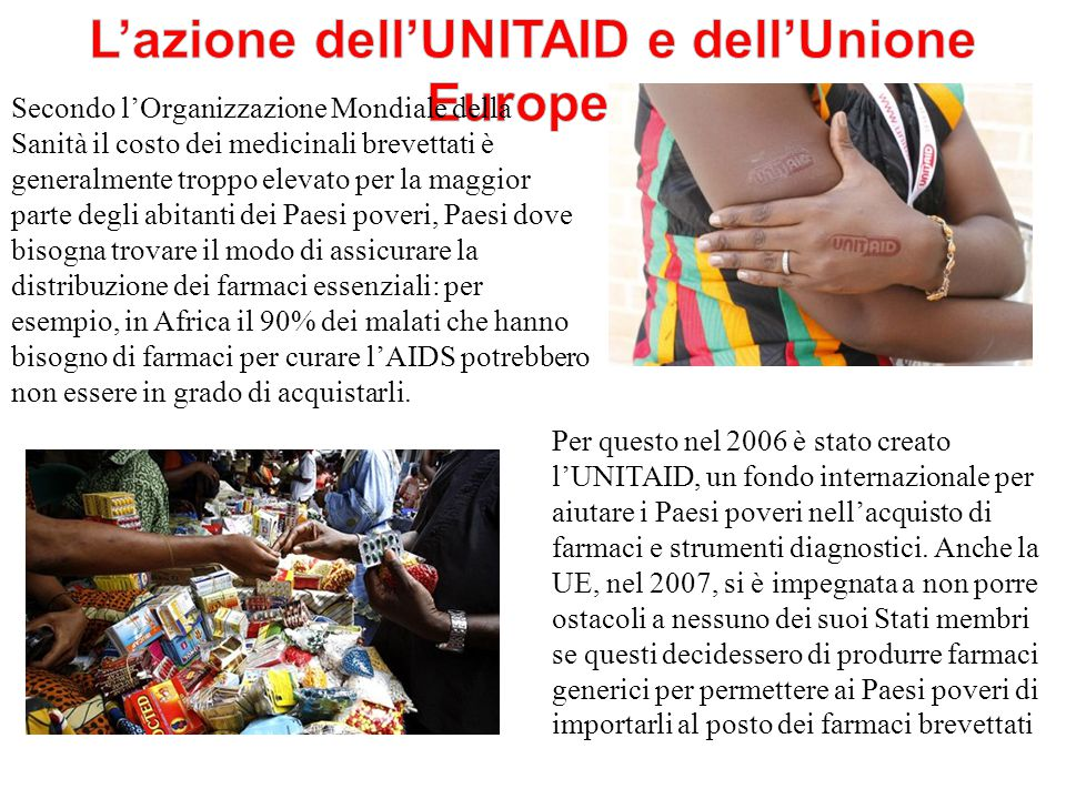 L'azione dell'UNITAID e dell'Unione Europea