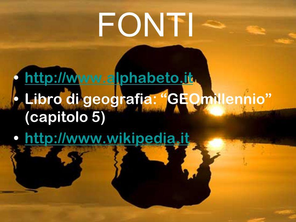 FONTI http://www.alphabeto.it