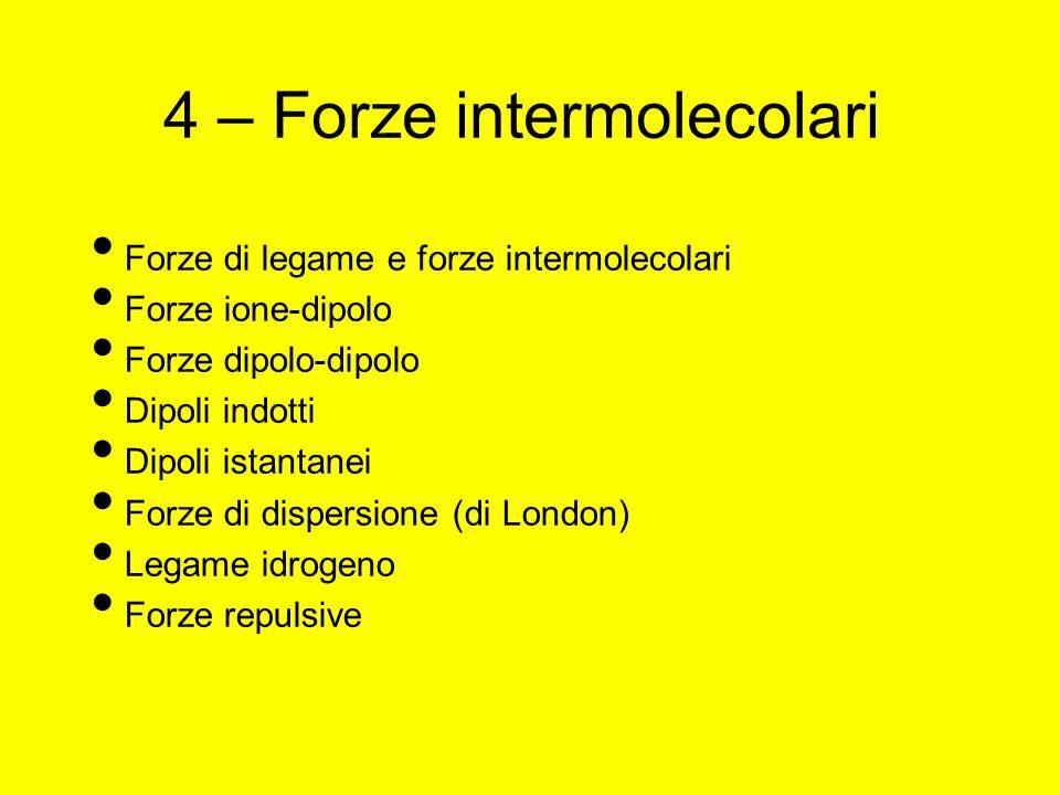 4 – Forze intermolecolari