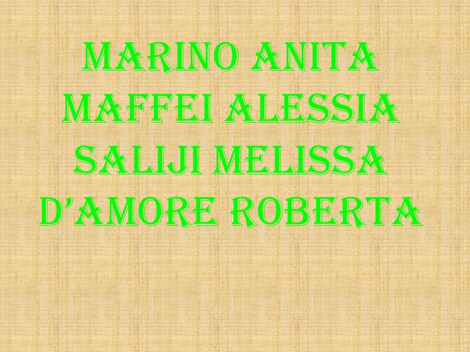 Marino anita Maffei alessia Saliji melissa D'amore roberta