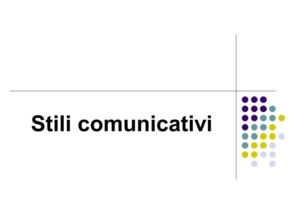 Stili comunicativi