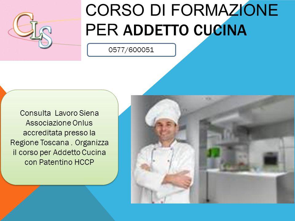 Corso di formazione per Addetto cucina