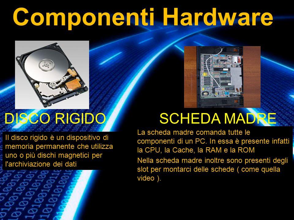 Componenti Hardware DISCO RIGIDO SCHEDA MADRE