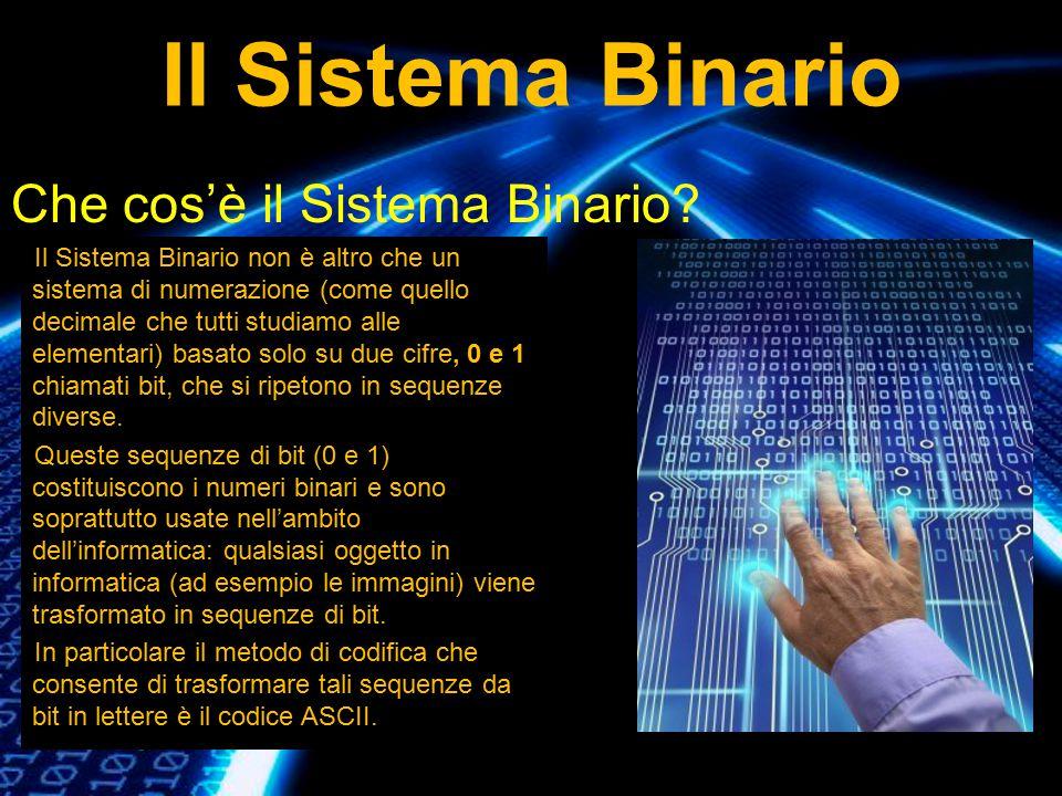 Il Sistema Binario Che cos'è il Sistema Binario