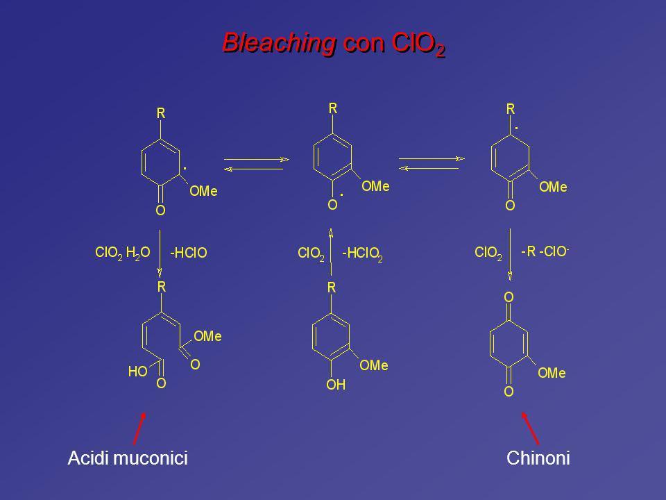 Bleaching con ClO2 Acidi muconici Chinoni