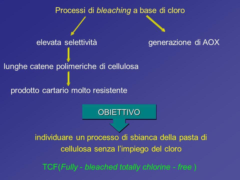 Processi di bleaching a base di cloro