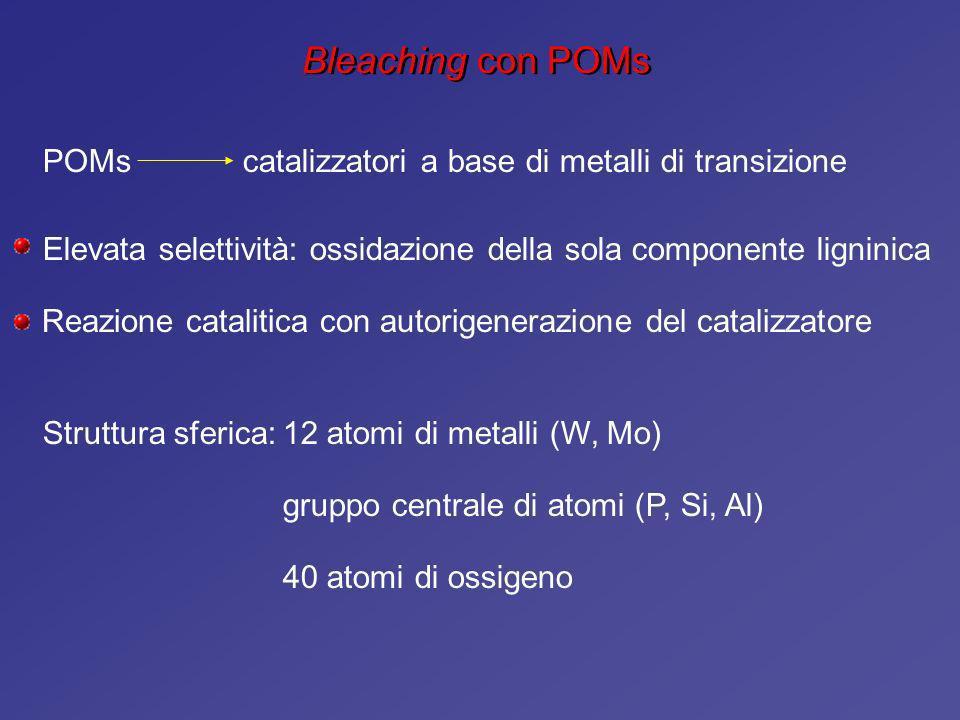 Bleaching con POMs POMs catalizzatori a base di metalli di transizione