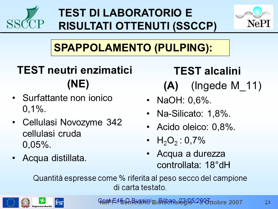 TEST neutri enzimatici (NE)