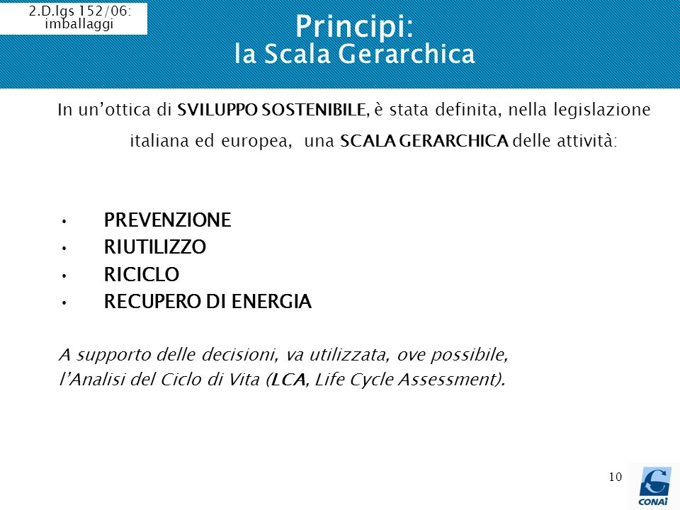 Principi: la Scala Gerarchica