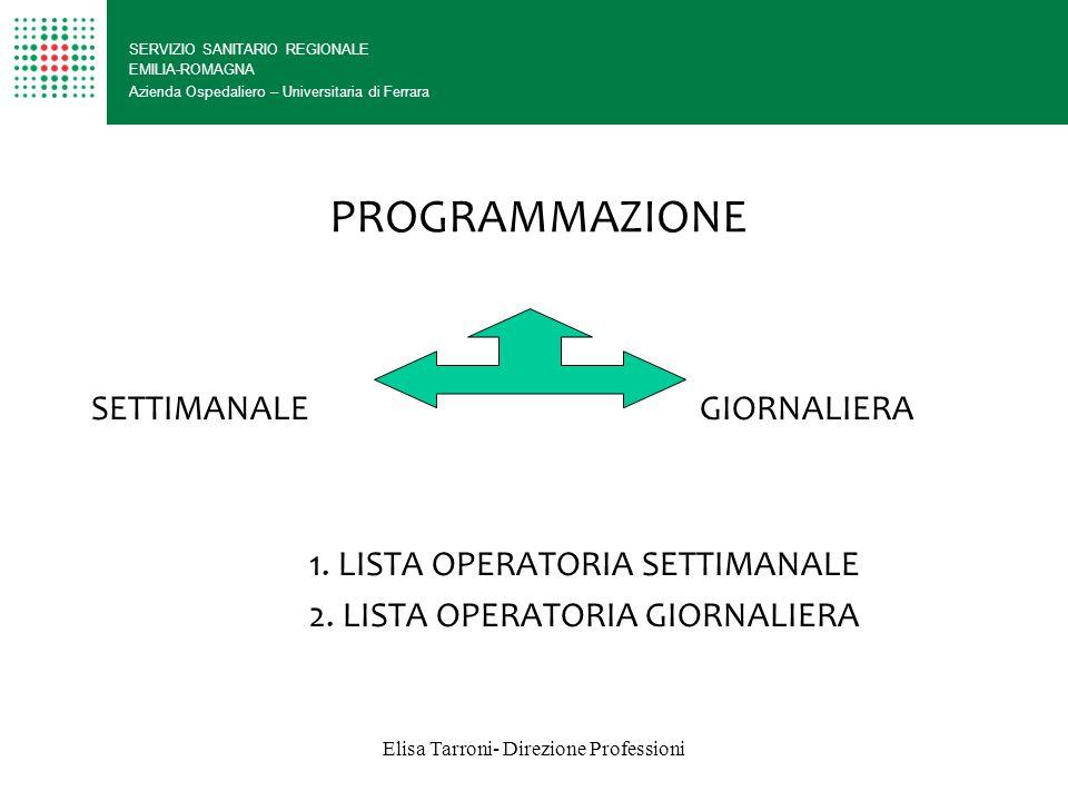 Elisa Tarroni- Direzione Professioni
