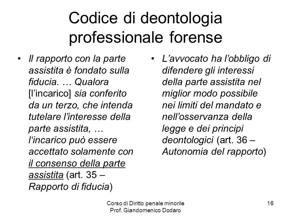 Codice di deontologia professionale forense