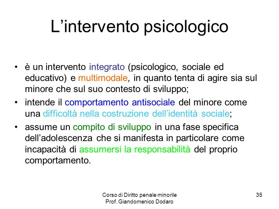 L'intervento psicologico