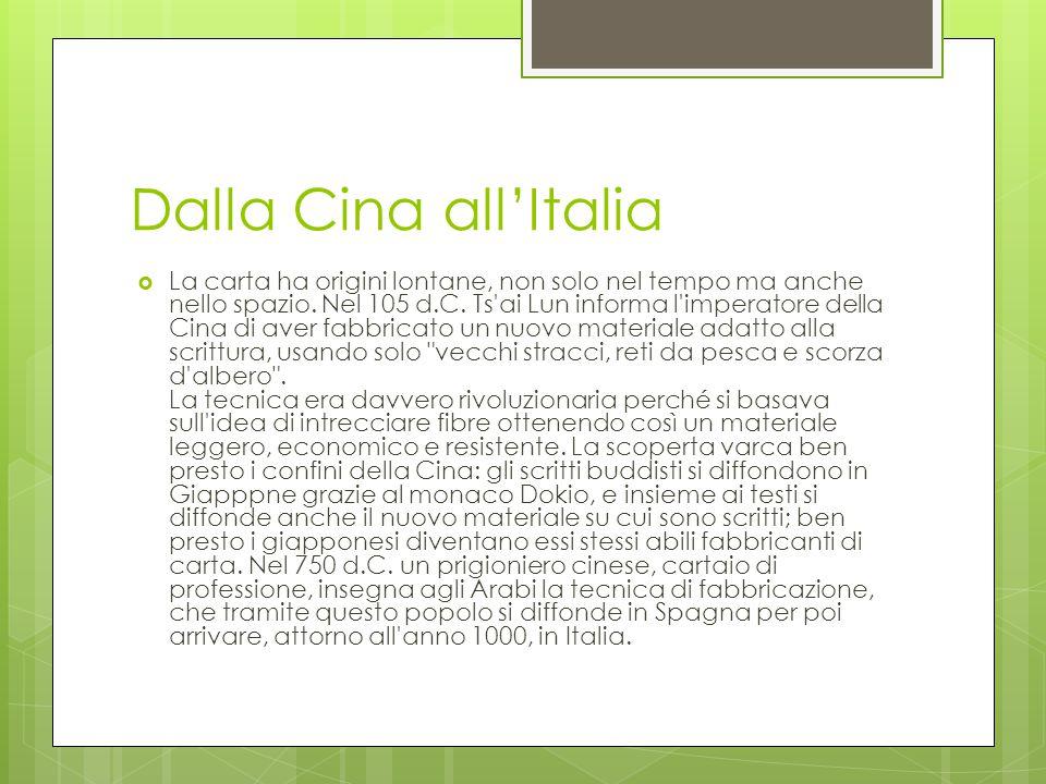 Dalla Cina all'Italia