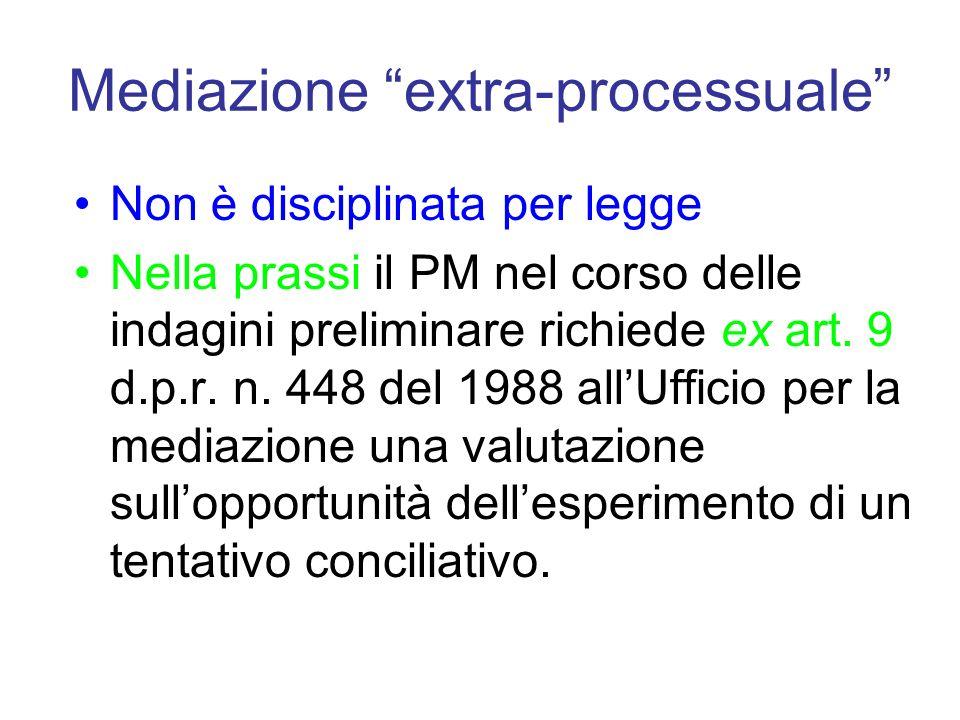 Mediazione extra-processuale