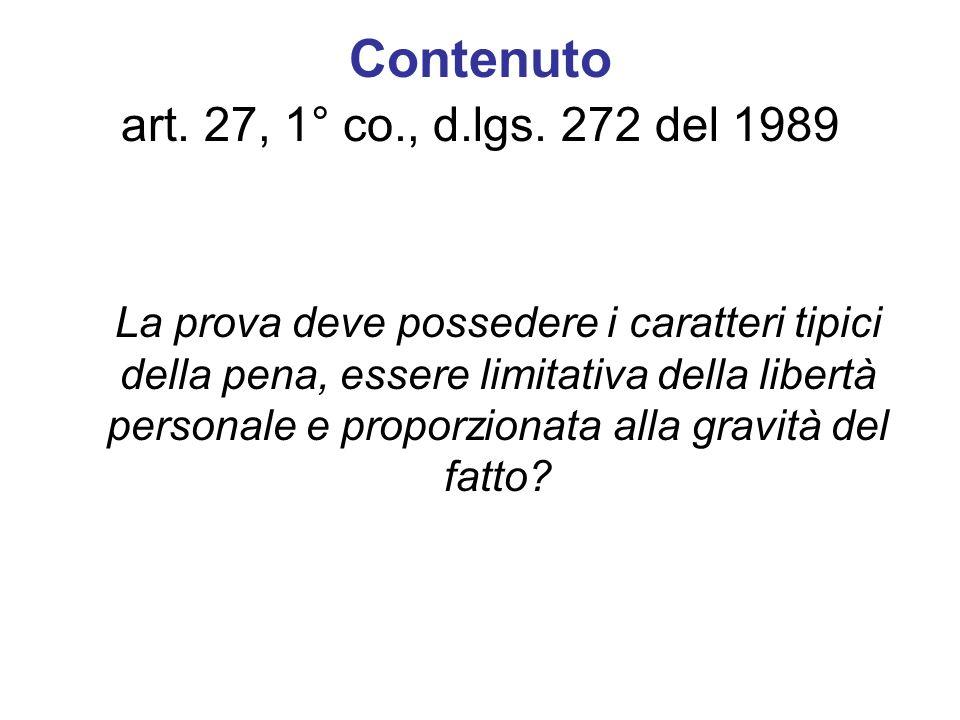 Contenuto art. 27, 1° co., d.lgs. 272 del 1989