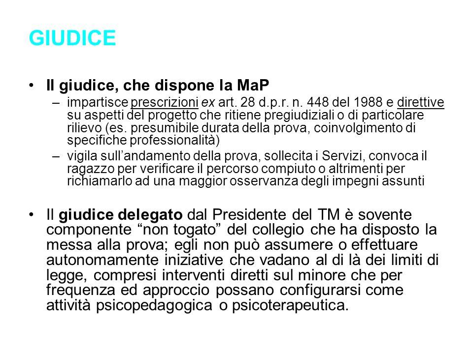 GIUDICE Il giudice, che dispone la MaP