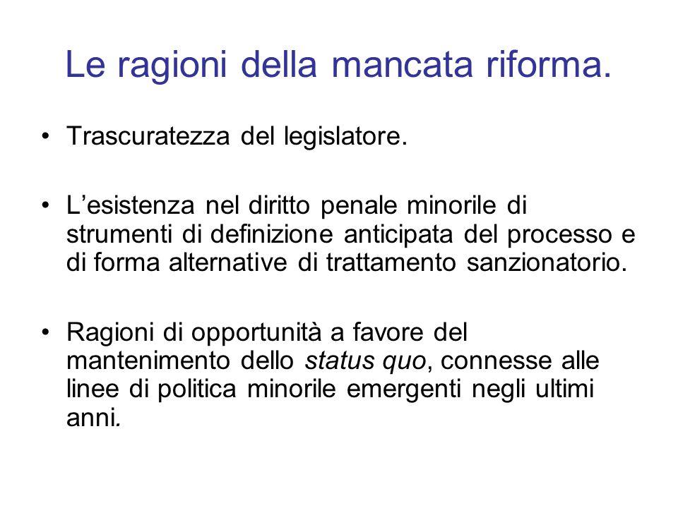 Le ragioni della mancata riforma.