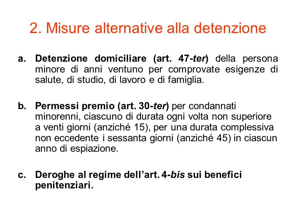 2. Misure alternative alla detenzione