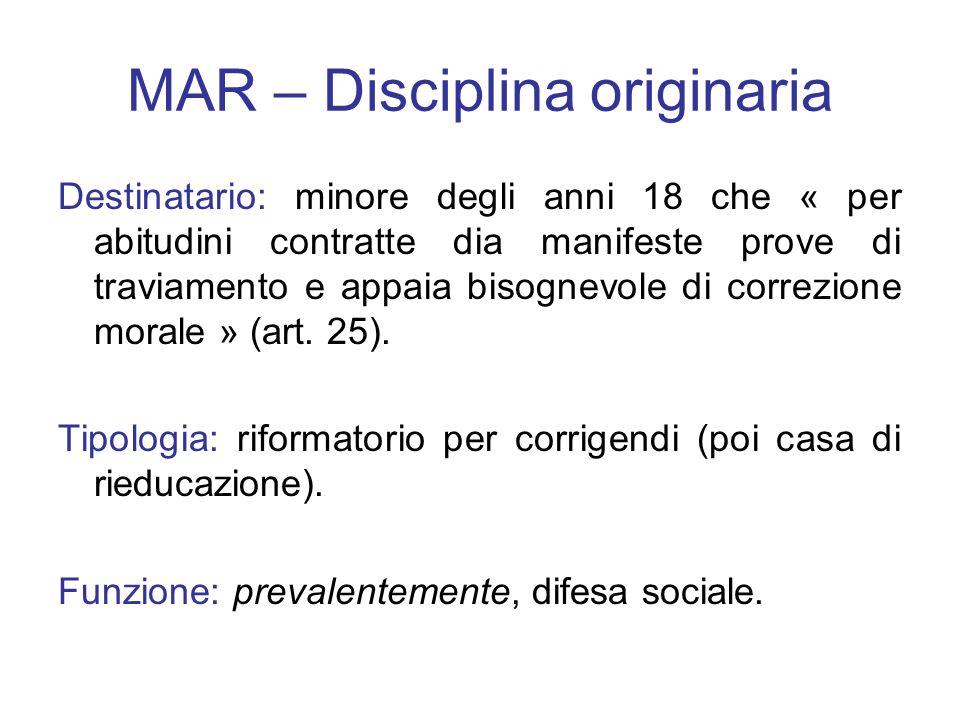 MAR – Disciplina originaria