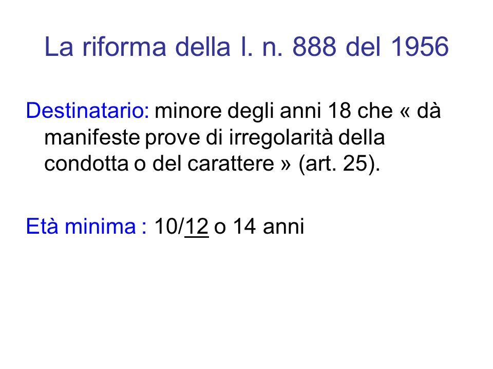 La riforma della l. n. 888 del 1956