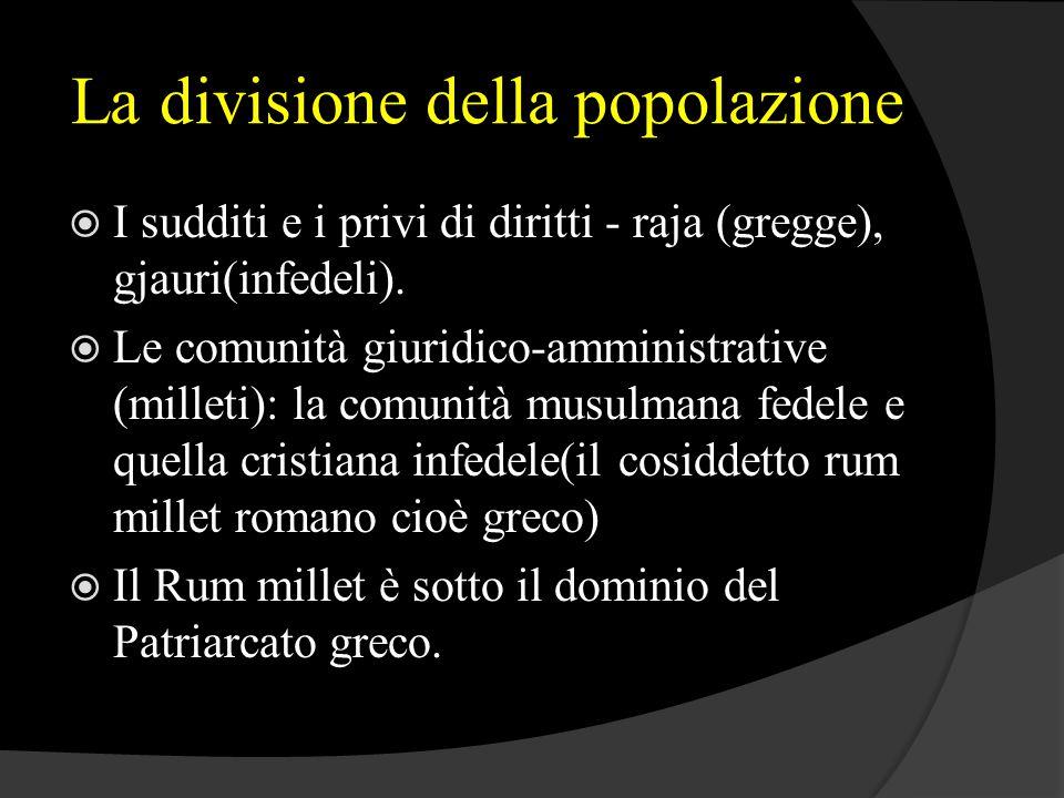 La divisione della popolazione