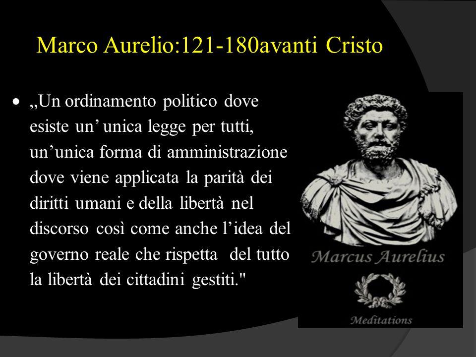 Marco Aurelio:121-180avanti Cristo