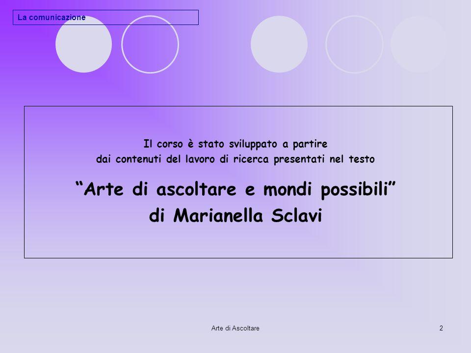 Arte di ascoltare e mondi possibili di Marianella Sclavi