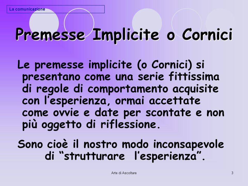 Premesse Implicite o Cornici
