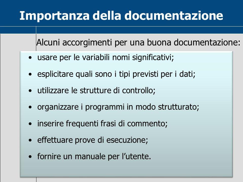 Importanza della documentazione
