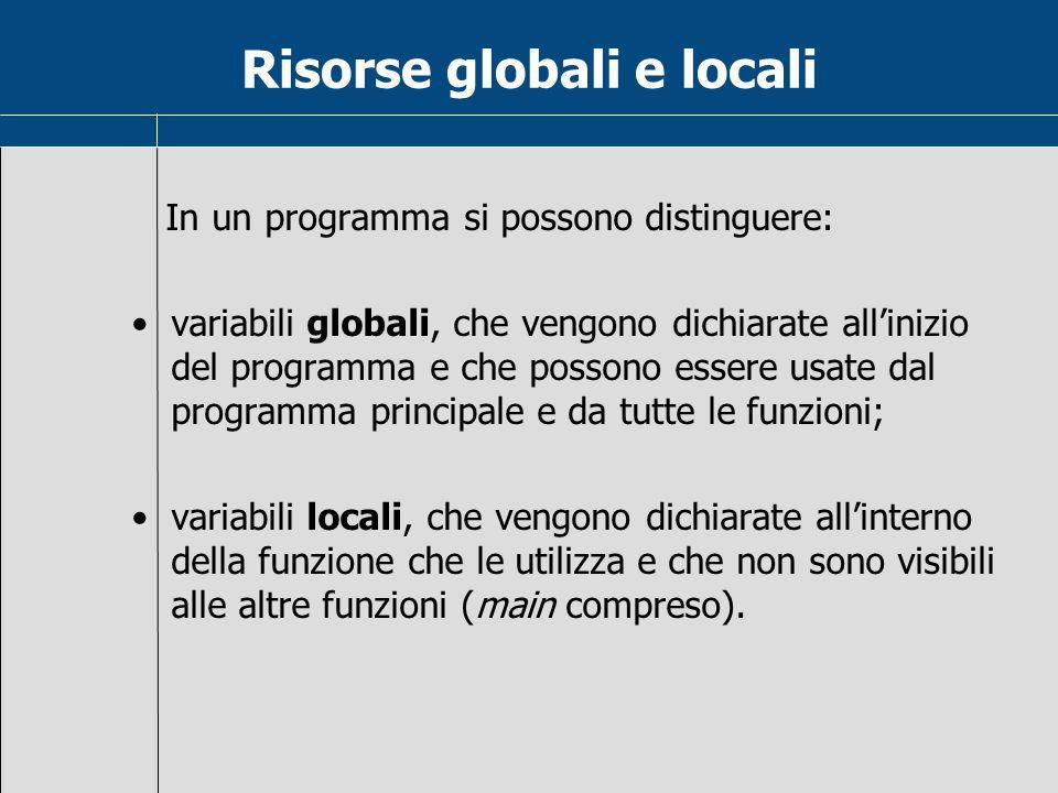 Risorse globali e locali