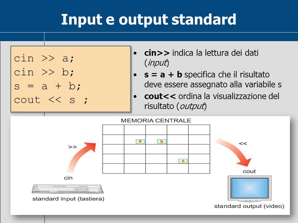 Input e output standard