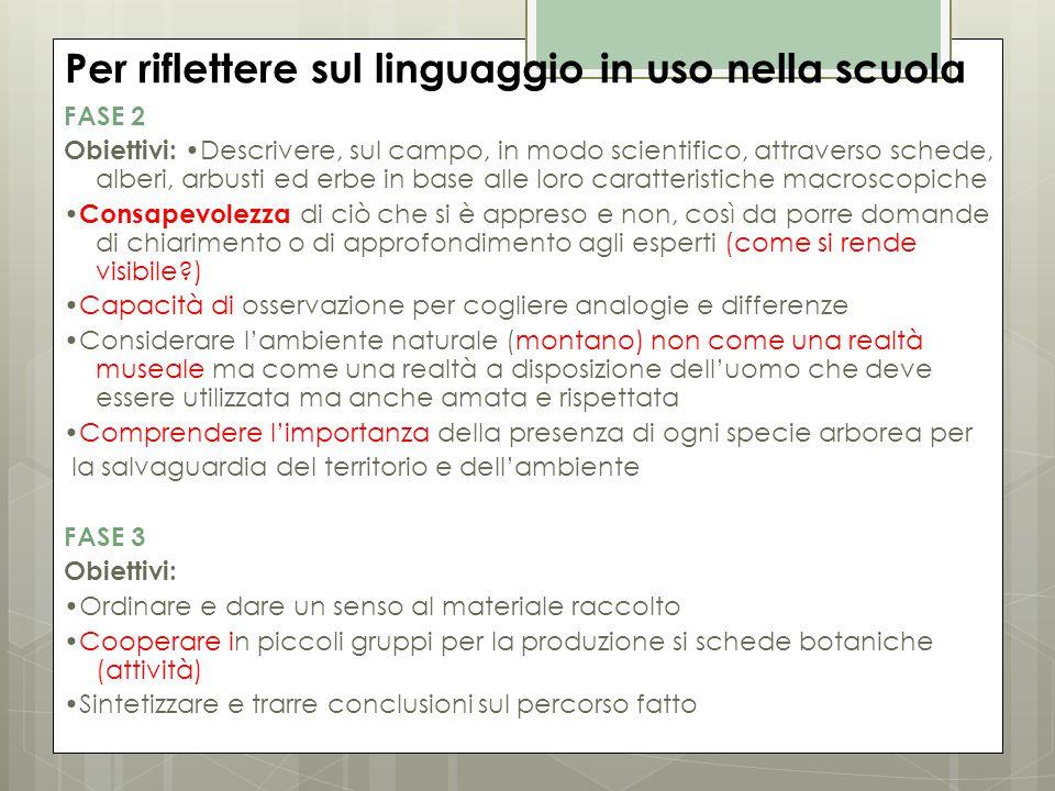Per riflettere sul linguaggio in uso nella scuola