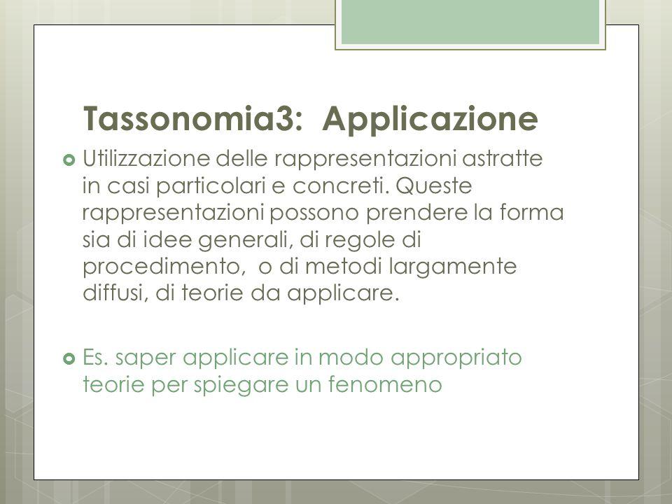 Tassonomia3: Applicazione