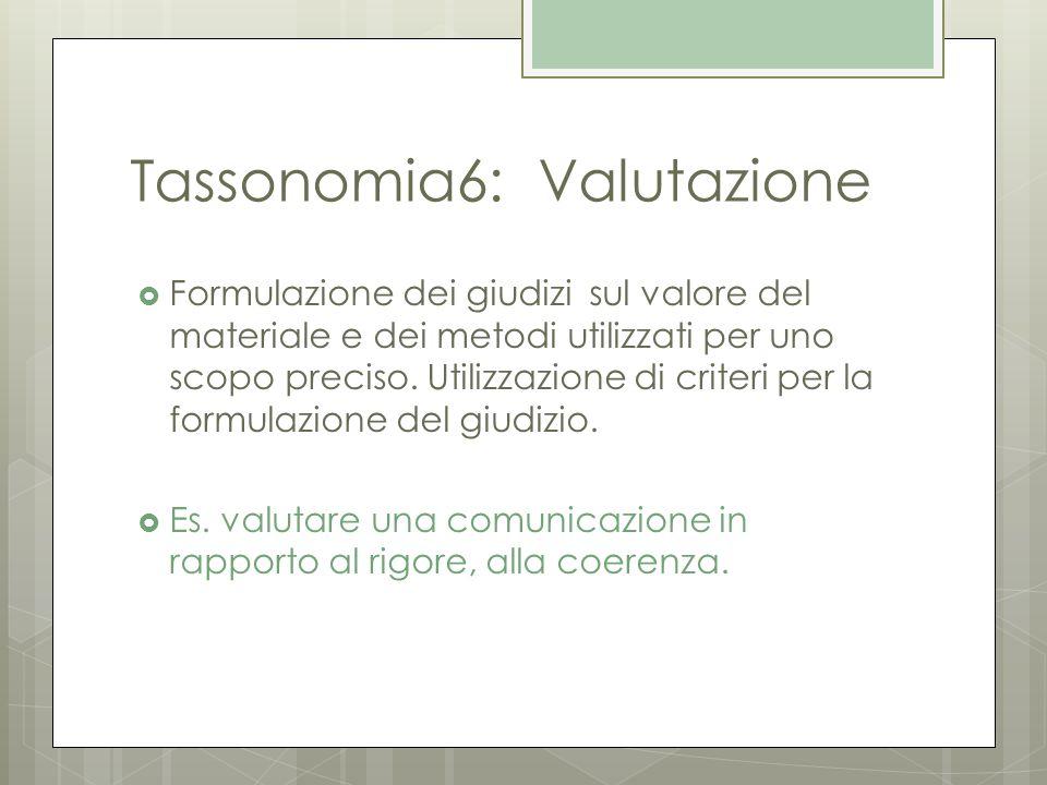 Tassonomia6: Valutazione